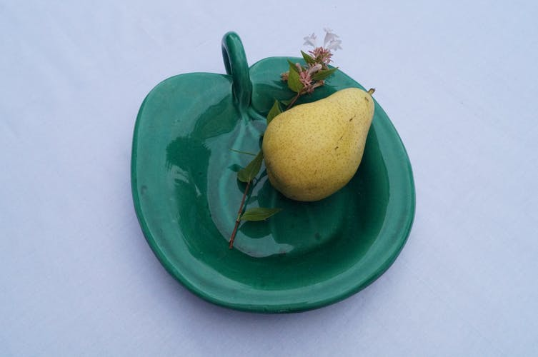 Serving plate in ceramics in Vallauris in the 1950s