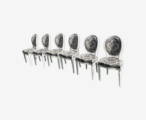 6 chaises Louis XVI