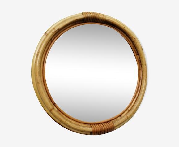 Miroir bambou rond 36x36cm