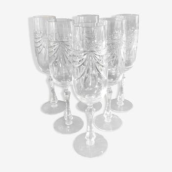 Six-champagne champagne flute set from Lorraine