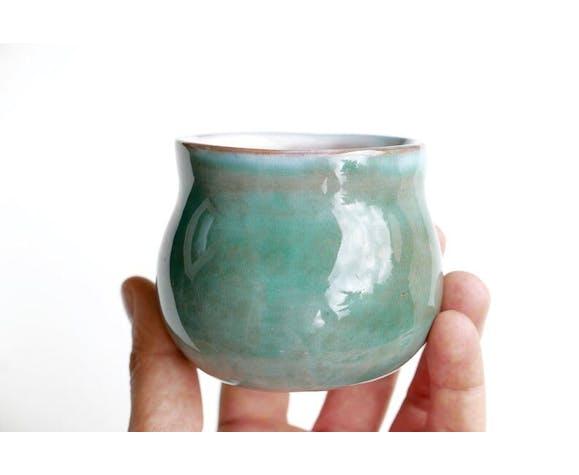 Moutardier en céramique des frères Cloutier années 60