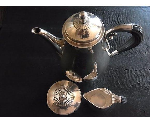 Georg Jensen & Johan Rohde  - service à café trois pièces en argent 'motif Cosmos Pattern'
