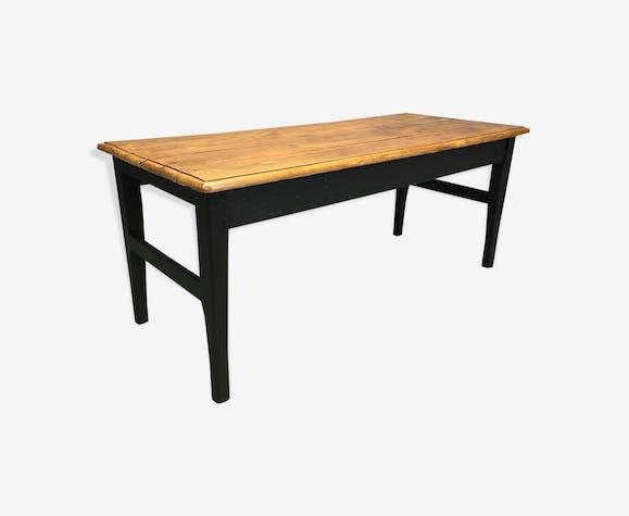 Table de ferme en orme XIXème