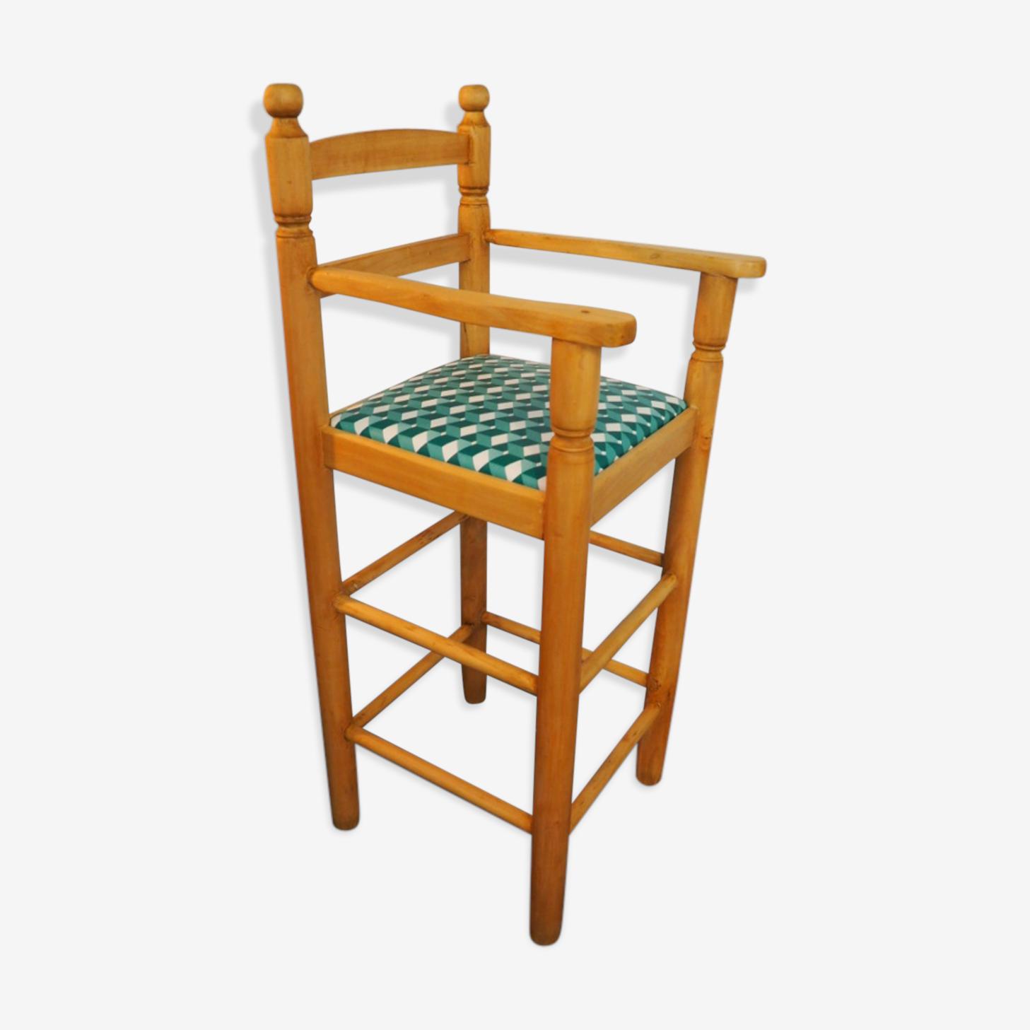 Chaise haute enfant vintage