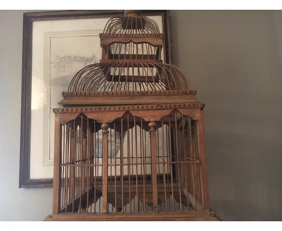 Cage en bois recyclé de style Victorien