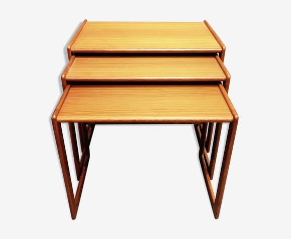 Tables Basse Gigogne Design Scandinave Teck 1950 Bois Matériau