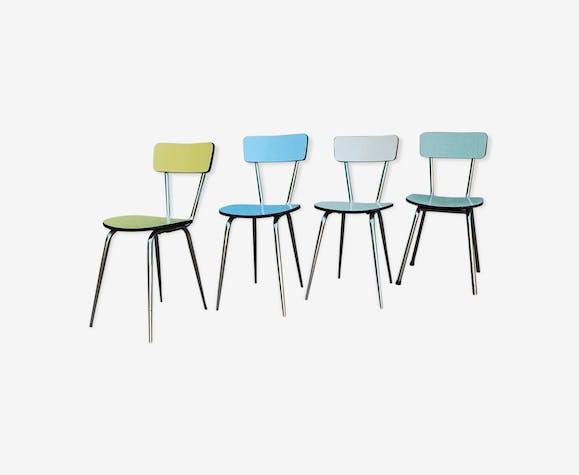 Set de quatre chaise en formica vintage