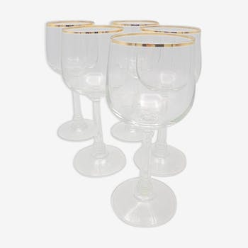 Set of 5 glass