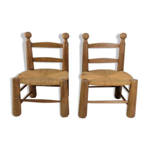 Pair Of Modernist Chairs 1950 Selency