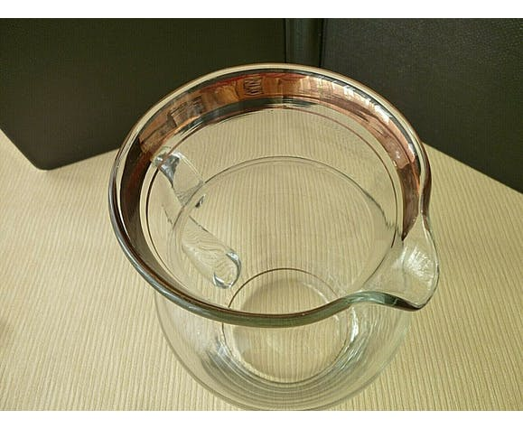 Carafe à eau ou orangeade en verre soufflé