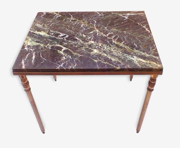 Basse Style Classique Iii Marbre Noir Petite Table Napoléon Lq54ARj3