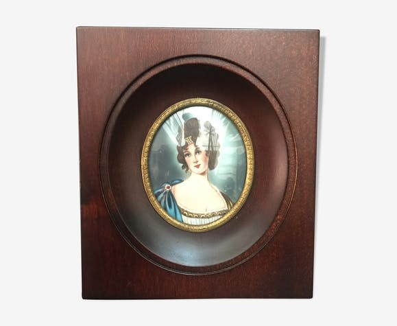 Miniature sur ivoire jeune femme époque Empire signé Jan