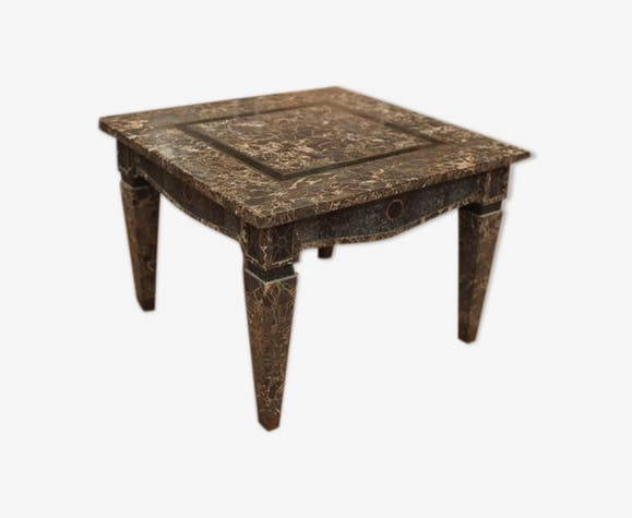 Marble coffee table and copper design 1960