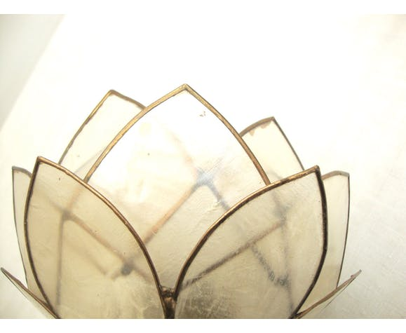 Applique lotus nacre et laiton