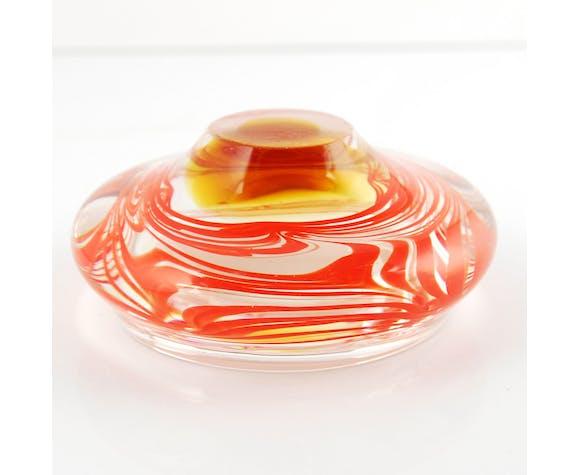 Glass ashtray by Skrdlovice Sklarna, Czechoslovakia, 1960s