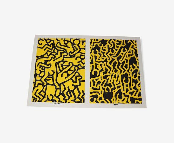 """Affiche en édition spéciale par Keith Haring """"Playboy KH86"""" 1990"""