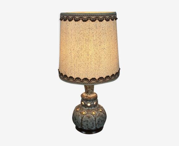 Lampe vintage en grès ajourée années 1970