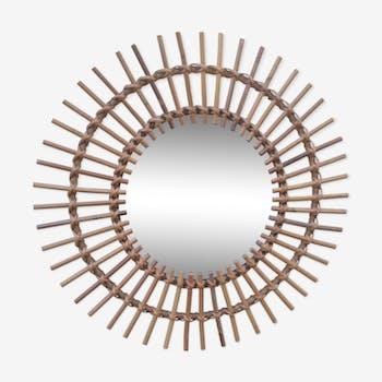 58x58 rattan sun mirror