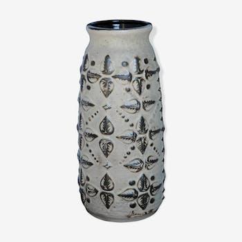 Vase Carstens (W.Germany) en céramique beige/brun