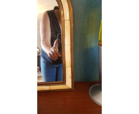 Miroir en laiton 40x20cm