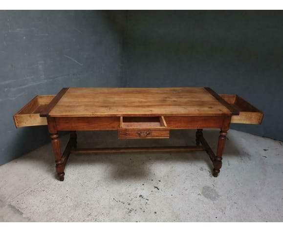 Antique table French dining table with three drawers