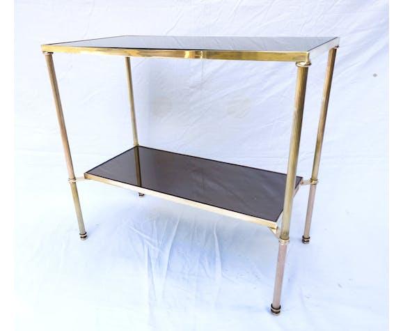 Table basse laiton doré Néoclassique 1950/60