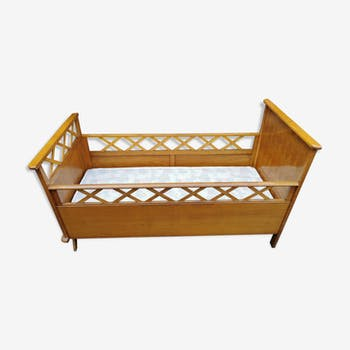 Children's bed with mattress and box spring