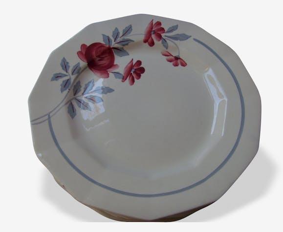 6 Assiettes  plates St Amand