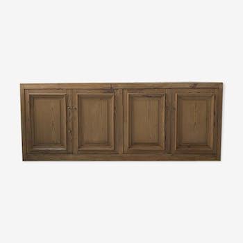 Enfilade 4 portes meuble de métier en pin