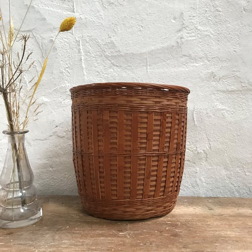 Pair of wicker pots from the 60s
