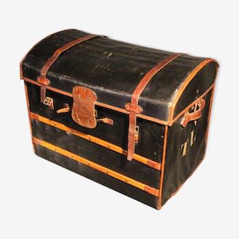 Coffre malle caisse de rangement vintage d 39 occasion - Malle en cuir vintage ...