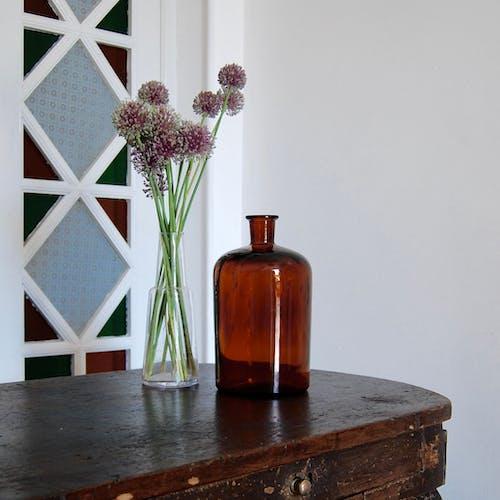 Bottle of amber pharmacy