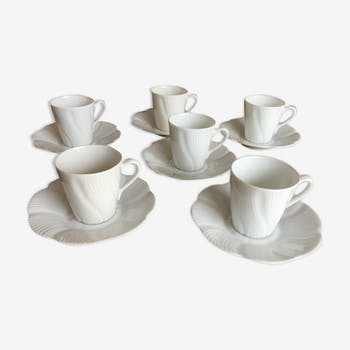Limoges fine porcelain coffee cups and saucers