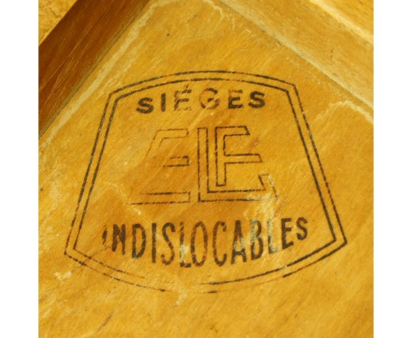 "Set de 2 chaises ""ELF indislocables"" 1950"