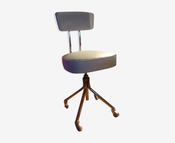 Chaise De Bureau Roneo Vintage Industrielle A Roulettes