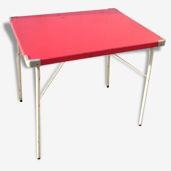 Small folding camping SOUPLEX, vintage 60s metal table