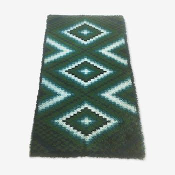 tapis kilim style scandinave tapis de couloir 175x64 laine coton multicolore scandinave. Black Bedroom Furniture Sets. Home Design Ideas