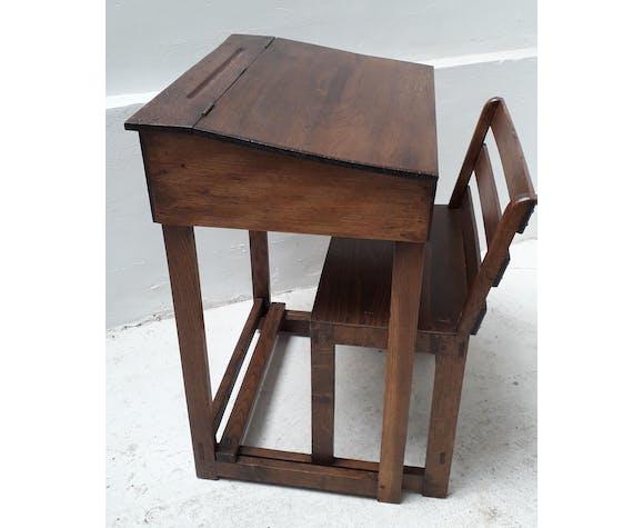 School boy's desk with sliding chair