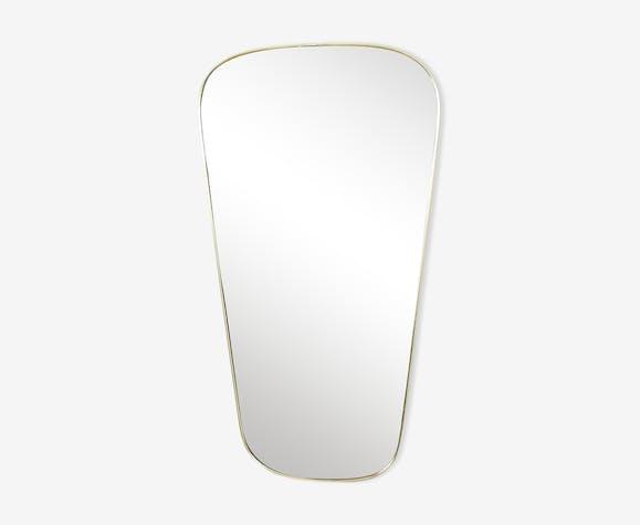 Miroir forme libre années 60 - 60x32cm