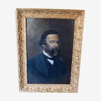 Portrait d'homme fin 19ème