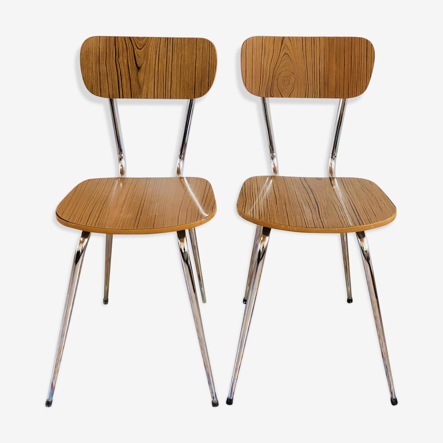 Paire de chaise en formica