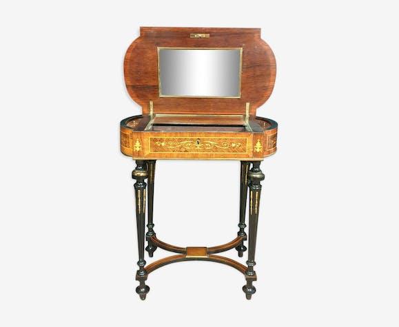 Poudreuse de Dame en marqueterie Boulle époque Napoléon III