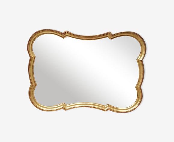 Miroir en bois doré XXème 81x58cm