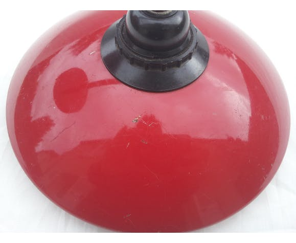 Red metal wall sconce