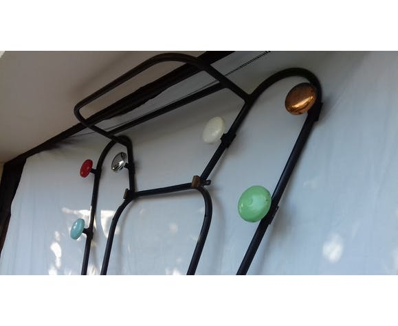 Wall entrance cloakroom 6 multicolored pegs