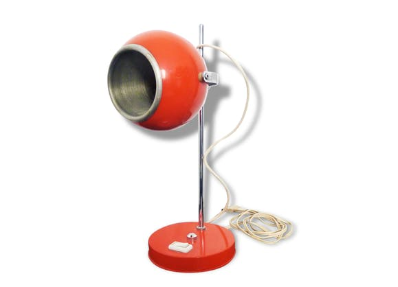 lampe eyeball 70 39 s orange vintage bak lite orange vintage 108594. Black Bedroom Furniture Sets. Home Design Ideas