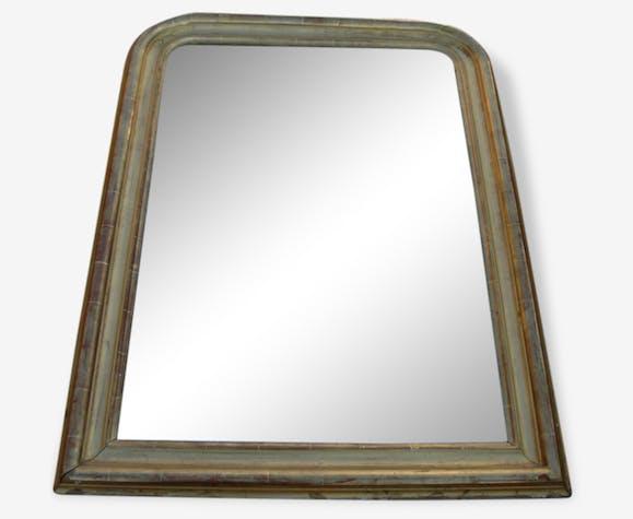 grand miroir ancien chemin e dor d poque louis philippe 19 me bois mat riau dor. Black Bedroom Furniture Sets. Home Design Ideas