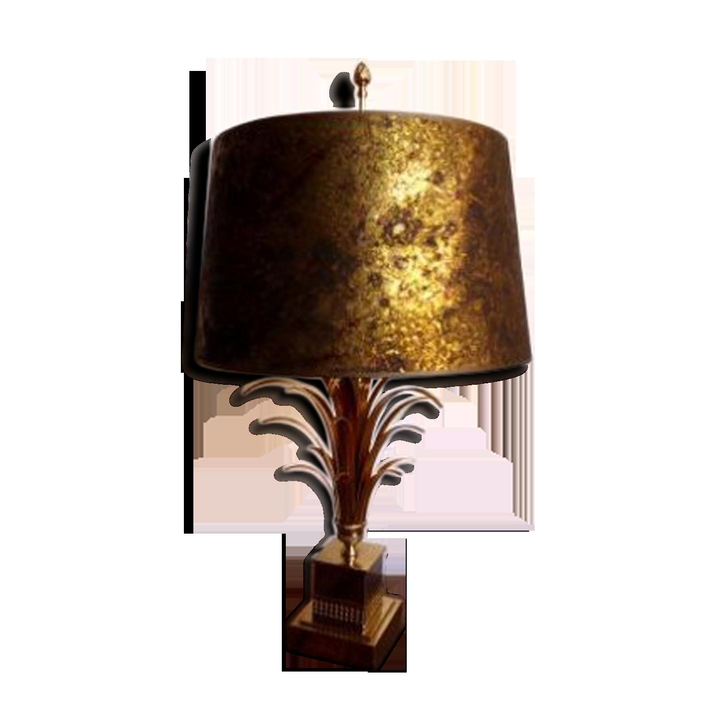 Lampe de bureau palmier de maison charles s bronze golden
