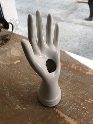 Soliflore main en céramique