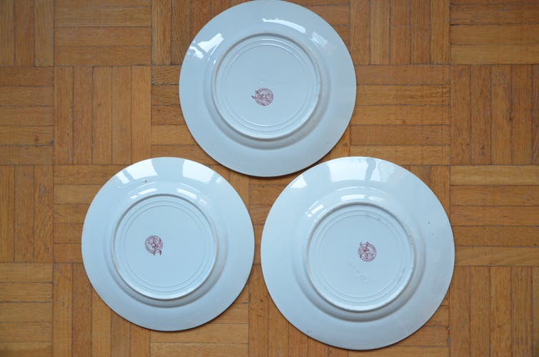 Lot de 3 assiettes St Amant et Hamage